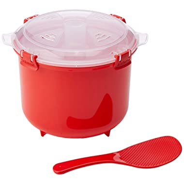 Sistema Microwave Collection Rice Cooker, 87.2 oz./2.6 L, Red
