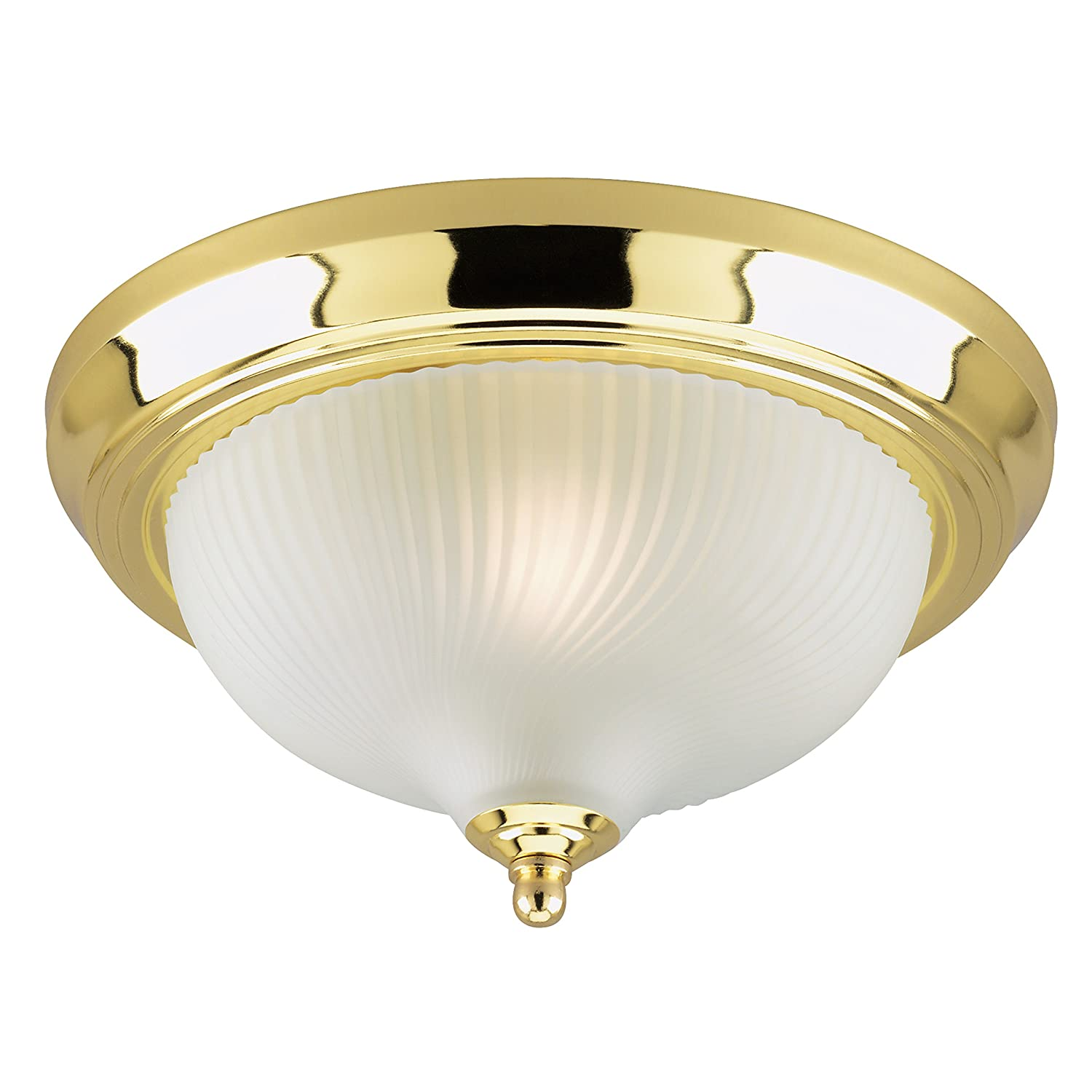 Amazon com westinghouse lighting corp 11 1 4 inch ceiling fixture polished brass home improvement