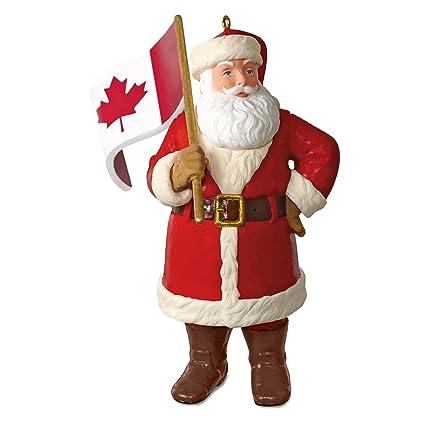 Hallmark Keepsake Christmas Ornament 2018 Year Dated Canadian Flag Canada Flag Santa