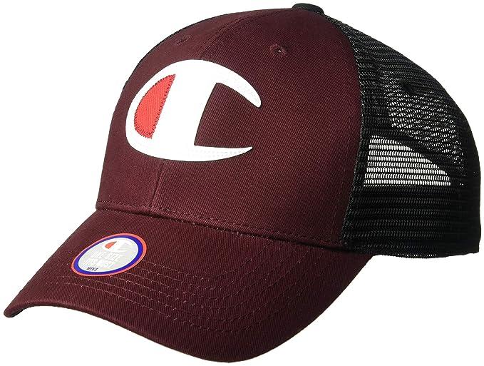 Amazon.com: Champion LIFE Mens Twill Mesh Dad Cap, Maroon/Black, OS: Clothing
