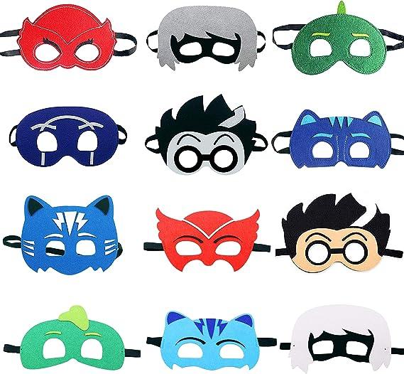 Amazon.com: TEEHOME dibujos animados héroe máscaras favores ...