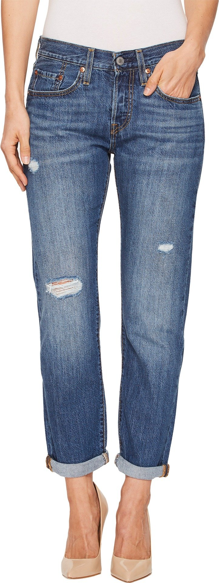 Levi's Women's 501 Taper Jeans, Simple Life, 28 (US 6) by Levi's (Image #1)