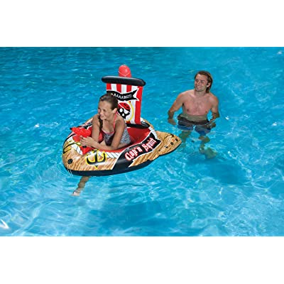 Poolmaster Pirate Ship with Action Squirter Swimming Pool Float: Toys & Games