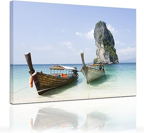 Bilderdepot24 Bastidor Imagen - Cuadros en Lienzo Barco de Pesca (Tailandia) 40x30cm - Made in Germany!: Amazon.es: Hogar