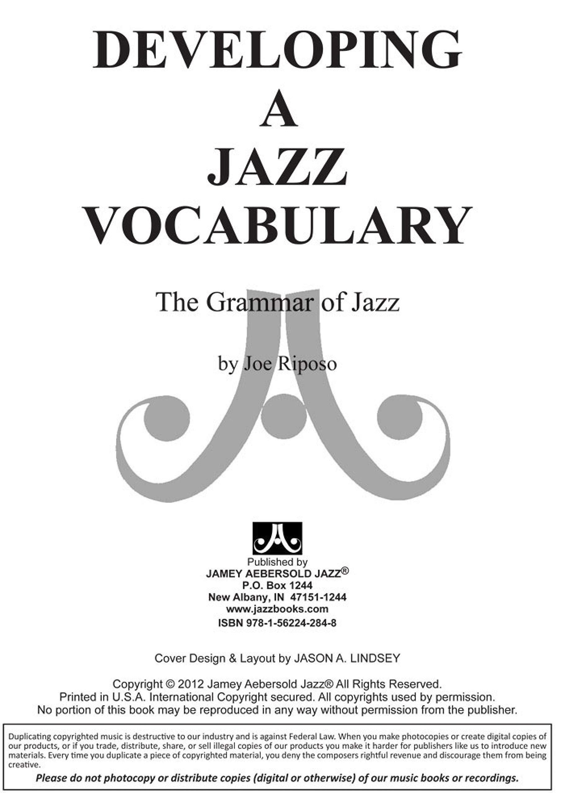 Developing a Jazz Vocabulary