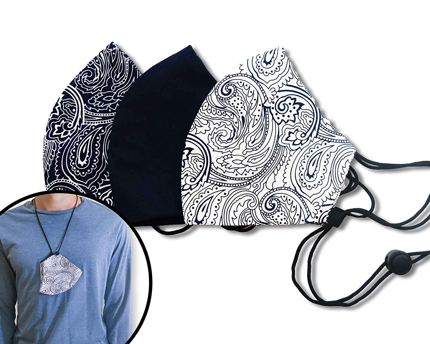 Paisley Print Washable Cotton Face Cover For Adult