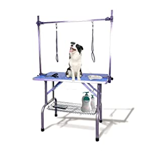 SCYL 36 Foldable Dog Pet Cat Grooming Table with Arm Clamp for Large Animals (36 L X 24 W) (Tamaño: 36L X 24W)