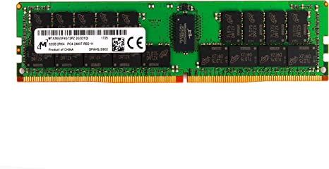 Micron 32GB 2RX4 PC4-2666V-R DDR4 2666 Mhz 288 Pin ECC Registered Server Memory