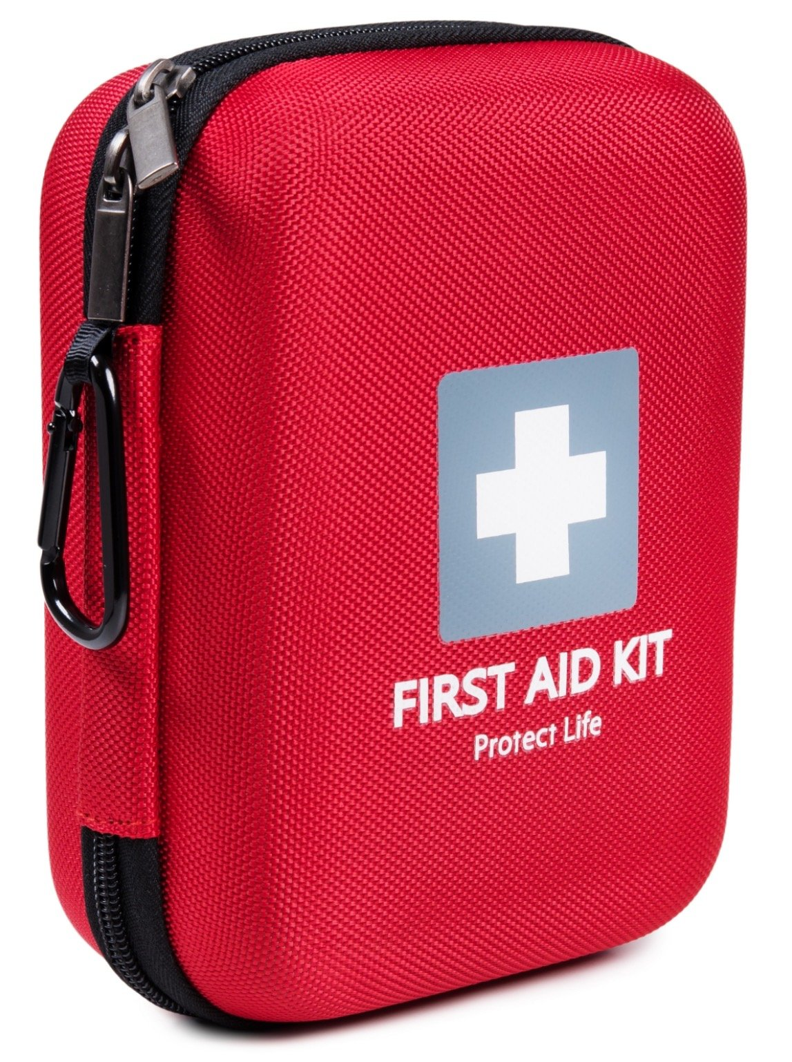 First Aid Kit - 150 Piece - for Car, Home, Travel, Sports, Camping, Hiking or Office | Red case w/Reflective Cross Fully Packed with Emergency Supplies