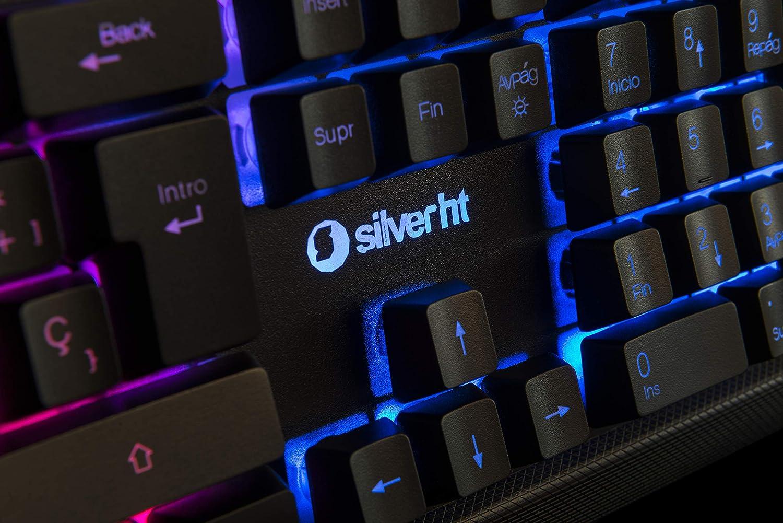 Teclado Gaming Silver HT Sniper Teclado de Membrana retroiluminado y Teclas Anti-ghosting: Silverht: Amazon.es: Informática