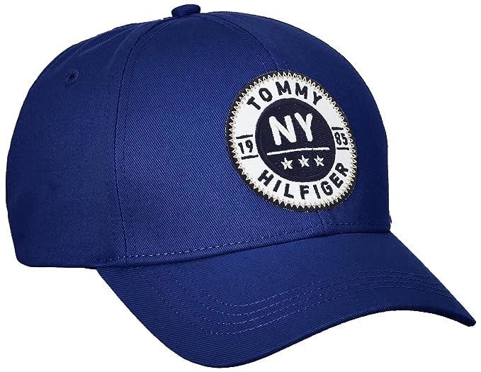 Tommy Hilfiger Carl Cap, Gorra de béisbol para Hombre, Azul (Medieval Blue)