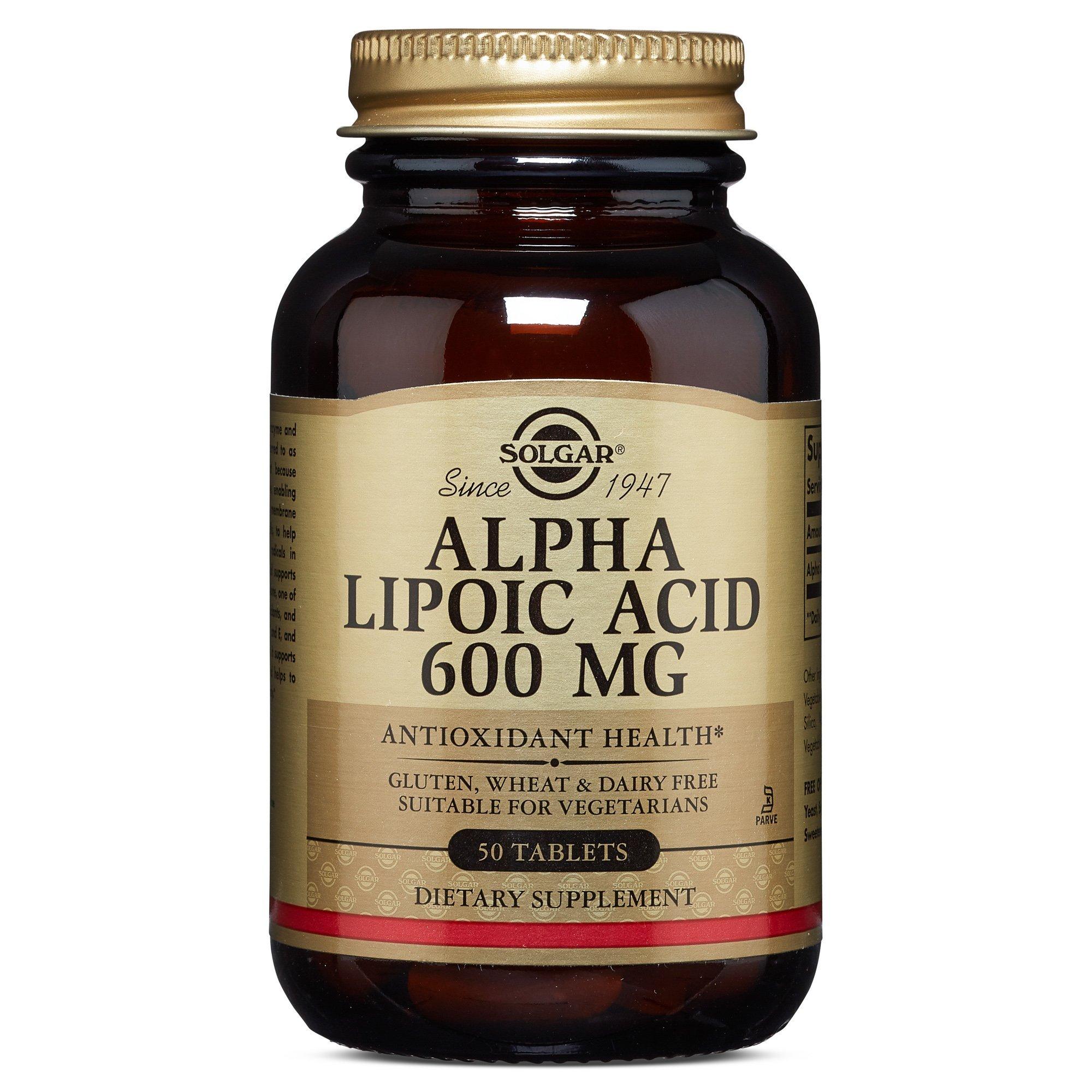 Solgar – Alpha Lipoic Acid 600 mg, 50 Tablets
