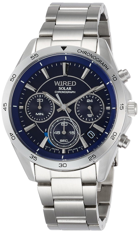 [ワイアード]WIRED 腕時計 WIRED ソーラークロノグラフ スポーティーデザイン AGAD088 メンズ B073145PWN