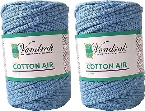 Hilo de algodón de 5 mm. Hilo de algodón grueso. Ovillo de lana para tejer. Ovillo