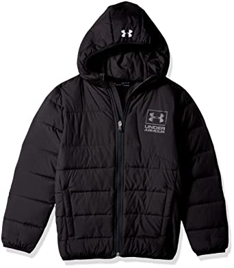 f16bafcd8c88 Amazon.com  Under Armour Boys  Swarmdown Hooded Jacket  Clothing