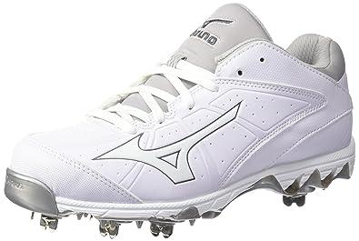 Mizuno Women's 9-Spike Swift 4 Softball Shoe, White, ...
