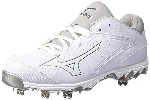 fc7174c6c24f Mizuno Women's 9-Spike Swift 4 Softball-Shoes, White, 11.5 B US: Buy ...