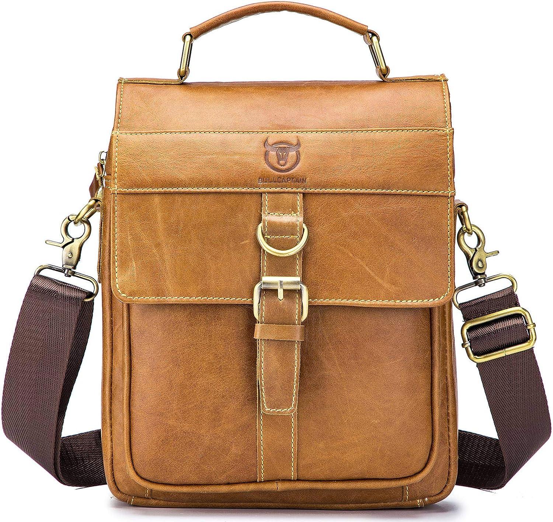 Color : Brown Shenghua1979 Mens Business Bag Mens Briefcase Shoulder Crossbody Cross Section Business Briefcase Business Laptop Bag