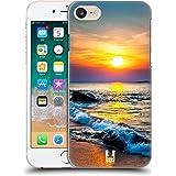 Head Case Designs Farbiger Sonnenuntergang Über Dem Meer Wundevolle Strände Ruckseite Hülle für Apple iPhone 7 / iPhone 8