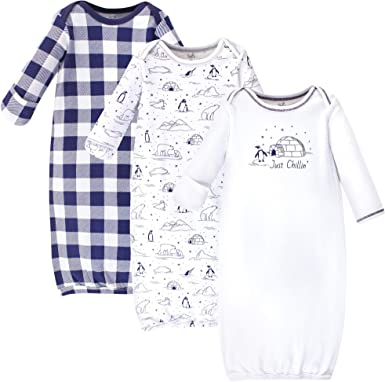Teepee 0-6 Months Touched by Nature Unisex Baby Organic Cotton Gowns