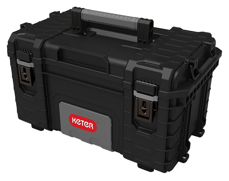 Keter 227337 Boite /à outils mid toolbox gear cart Noir