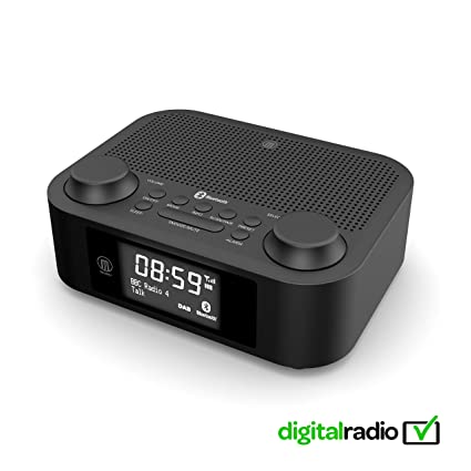 Radio Digital Fulbourn II Dab + Dab, Radio FM, Bluetooth inalámbrico, Reloj Despertador
