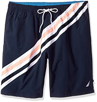 194a520bf0 Nautica Men's Big and Tall Quick Dry Full Elastic Waist Striped Swim Trunk  | Amazon.com