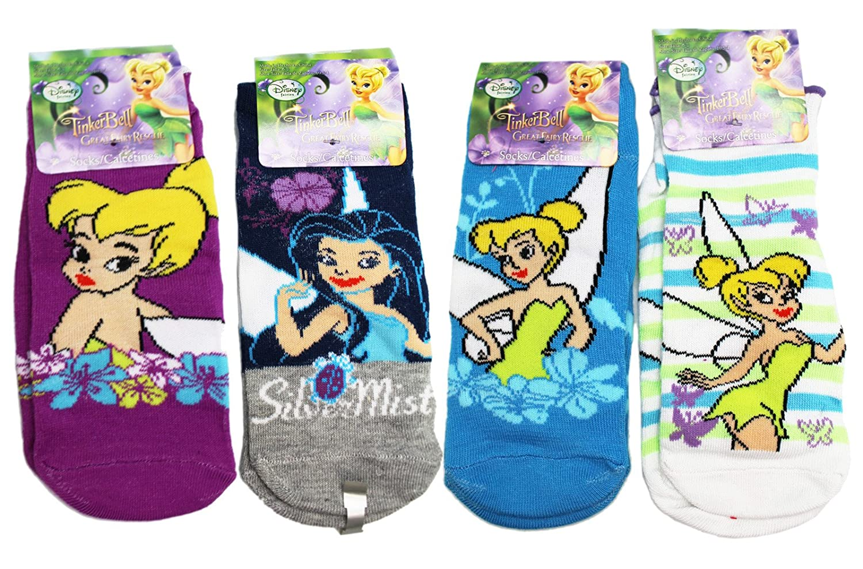 Amazon.com: Disney Fairies Assorted Character/Design Kids Socks (Size 6-8, 3 Pairs): Clothing