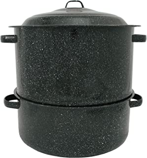 product image for Granite Ware 19-Quart Enamel-on-Steel 2-Tier Clam-and-Lobster Steamer