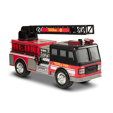 Amazon com: Tonka Mighty Motorized Fire Truck: Toys & Games