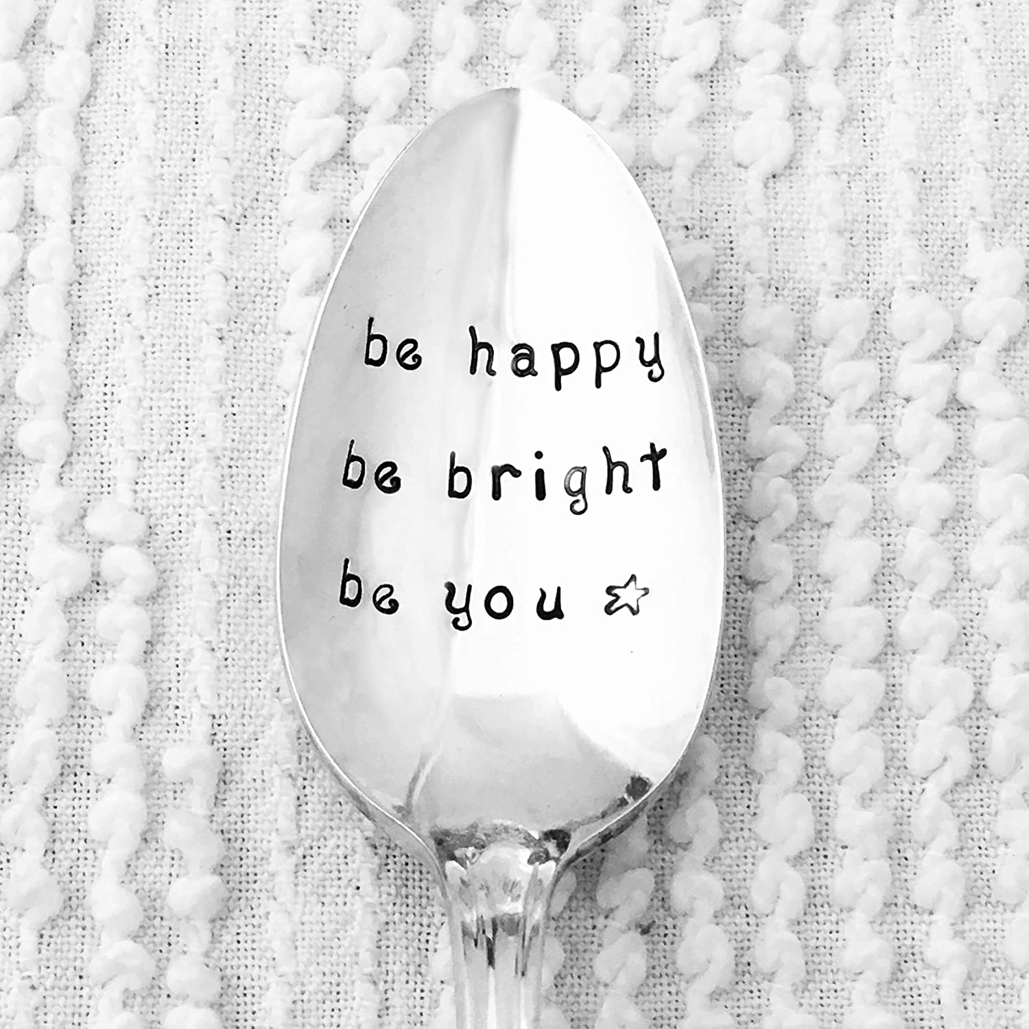 Be Happy Be Bright Be You spoon
