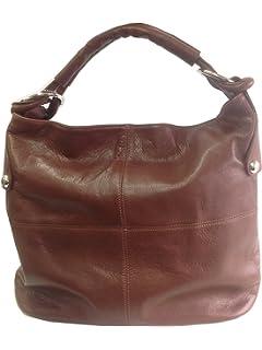 Beautiful Burgundy Soft Italian Leather Handbag, Shoulder Bag or ...