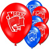USA America 4th of July Party Supplies Decorations (10 Latex Balloons)