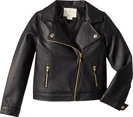 2638fcb29d85 Amazon.com  Kate Spade New York Kids Baby Girl s Faux Leather Moto ...