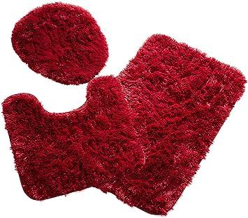 Amazon.com: Popular baño 3 piezas Juego de pelusas alfombra ...