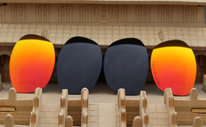 18347c785a256d 2 paires polarisées Lentilles de remplacement Rouge et Noir pour lunettes  de soleil Oakley XS Club Fivois (pour enfant)  Amazon.fr  Sports et Loisirs