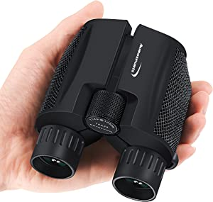 Aurosports 10×25 Folding High Powered Compact Binoculars