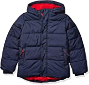 Amazon Essentials Boy's Heavy-Weight Hooded Puffer Coat