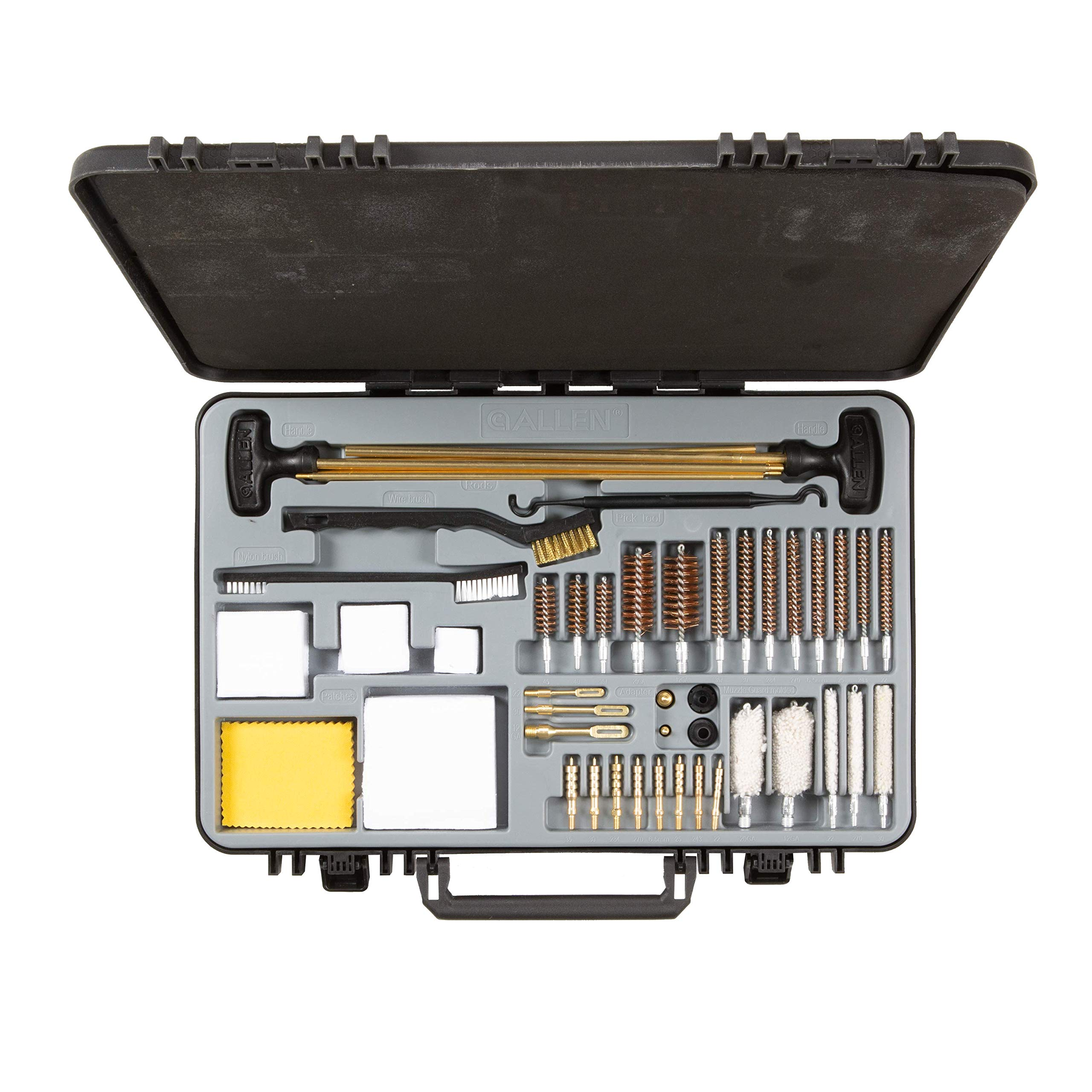 Allen Company - Krome Large Premium Quality Universal Gun Cleaning Kit, 50 Piece, Black