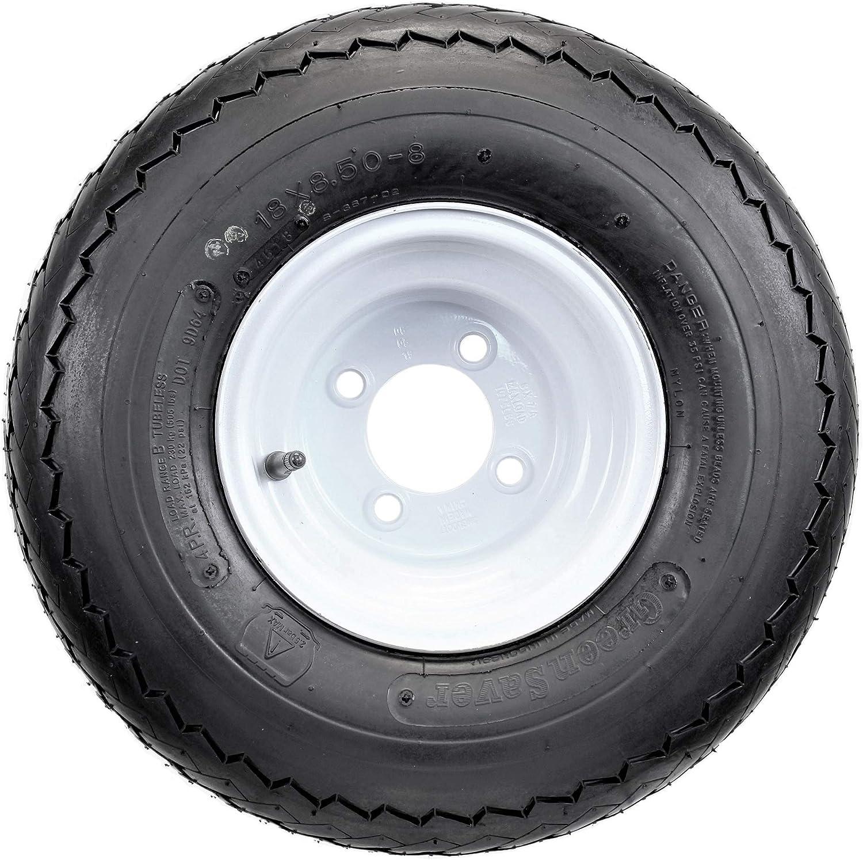 Amazon Com Four Golf Cart Tires Rims 18 X 8 5 X 8 18 850 8 18x8 50 8 White 4 Lug Hole 18 Automotive