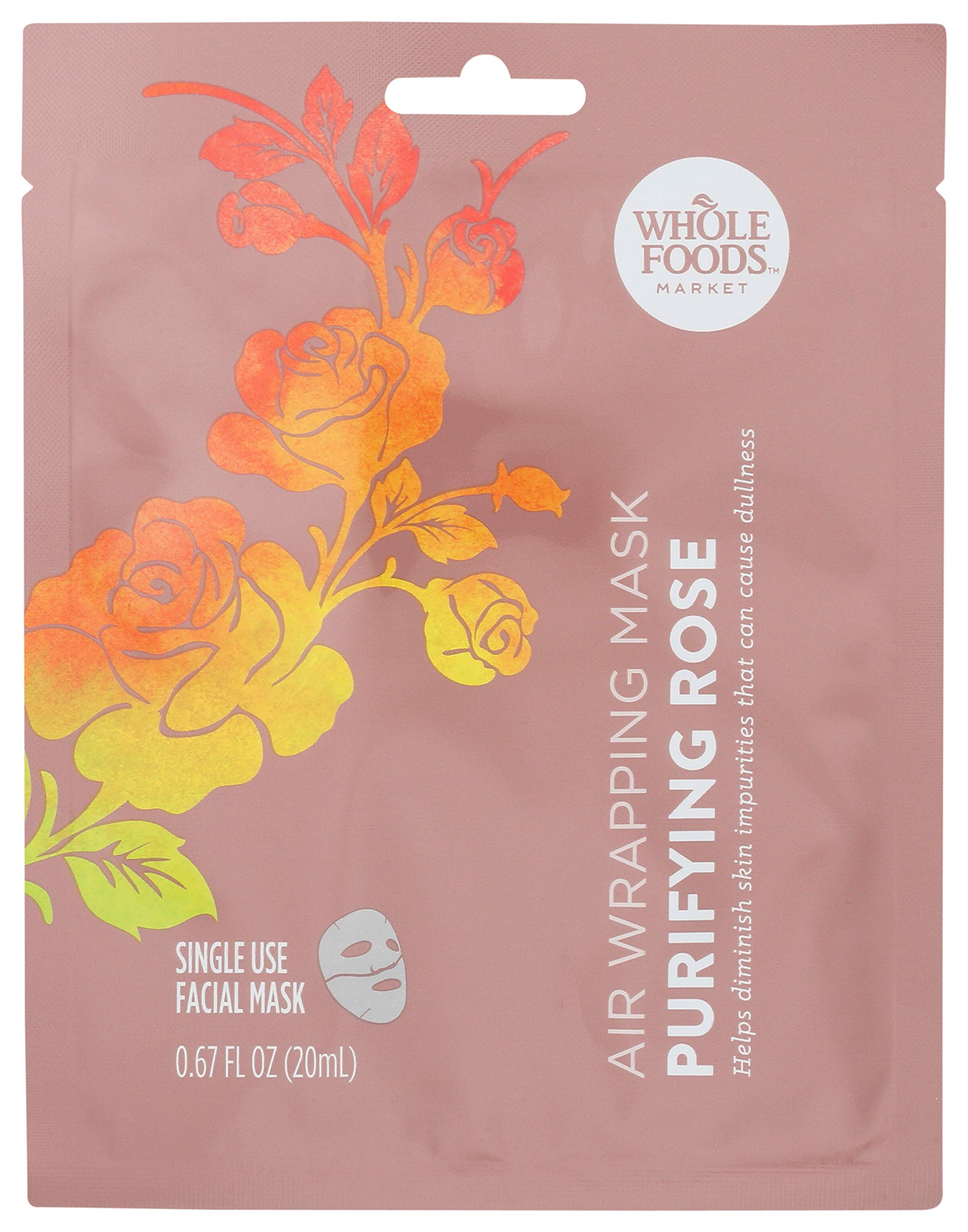 Whole Foods Market, Air Wrapping Mask, Purifying Rose, 0.67 fl oz