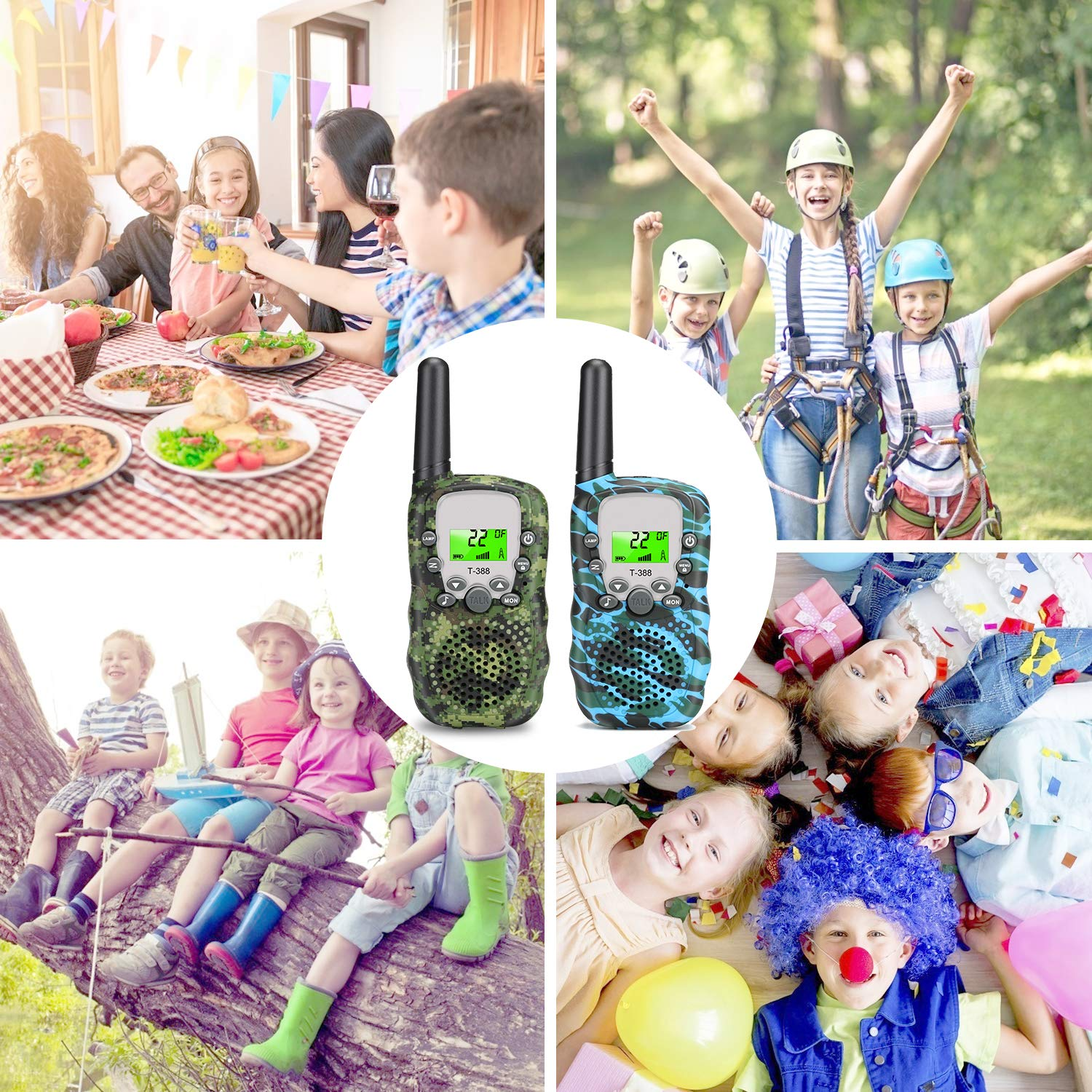 Walkie Talkies for Kids, 2 Way Radio Toy 22 Channel Great Kids Interphone, Best Gifts Toys for 4-12 Years Old Boys & Girls, Tools to Keep in Touch with Kids (2 Packs) by YUZW (Image #4)