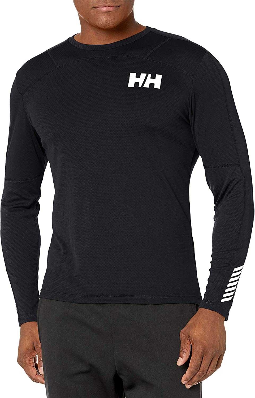 Helly Hansen Men's Hh LIFA Active Crew Long Sleeves T-Shirt Black (Black 991)