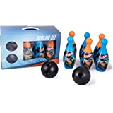 My Baby Excel Kid's Plastic Hot Wheels Bowling Set, 3-8 Years (Multicolour, MBE-SGL029, EN71) - Pack of 6 Pins and 2 Balls