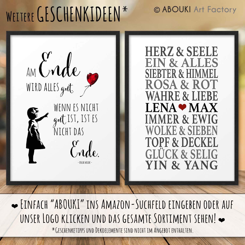 BESTE FREUNDIN Definition ABOUKI Kunstdruck Poster Bild Geschenk-Idee Geburtstag Weihnachten f/ür Frauen Freundinnen optional mit Holz-Rahmen