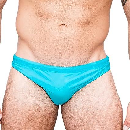db6e1506df5f1 Taddlee Swimwear Men Solid Blue Swim Briefs Bikini Board Surf Sports  Swimming (S)