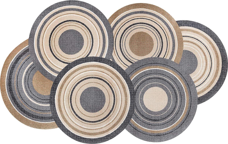 Wash+dry Cosmic Colours Nature Fußmatte, Acryl, bunt, 110x175x0.9 cm