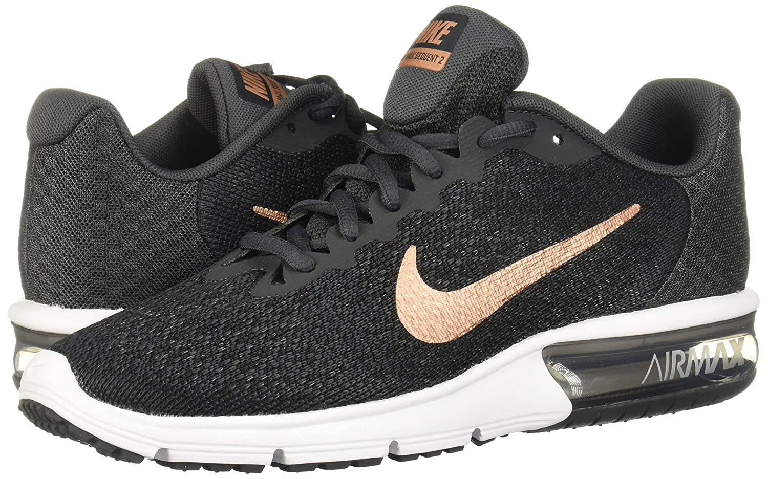 nike air max sequent 2 anthracite-metallic red bronze-black