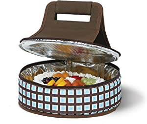 Picnic Plus Round Thermal Insulated Pie,Cake, Dessert, Appetizer Carrier Holds Up to a 12