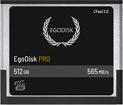 EgoDisk PRO 512GB CFast 2.0 Card - (BLACKMAGIC DESIGN URSA MINI 4K • 4.6K | CANON • XC10 • XC15 • 1DX MARK II • C200 • C700 | HASSELBLAD H6D-50C • ...